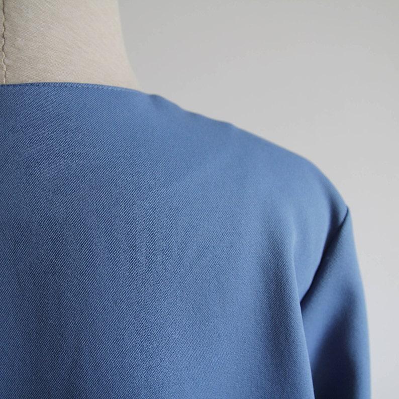 cobalt blue suit jacket blazer women/'s  oversized  french vintage 80s  size m l