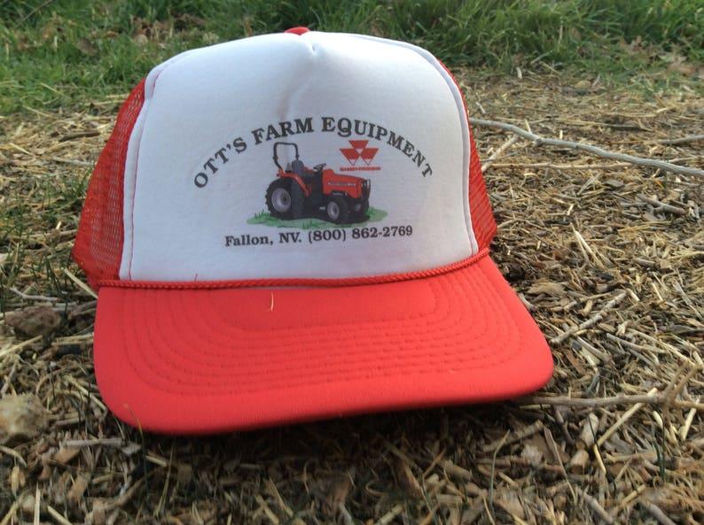 f98732dde22 Ott s Farm Equipment Red Trucker Hat