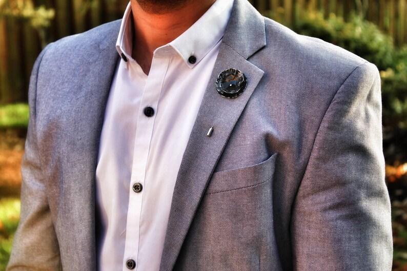 17c21f02402 Black Rose Lapel Pin Mens Wedding Lapel Pin Black Flower | Etsy