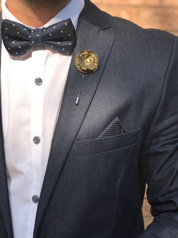 Gold Coat of Arms Lapel Pin Men/'s Wedding Suit