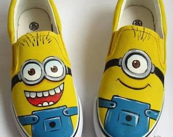 quality design f2117 f3fb4 Badhuche Minion Slip-on Shoes