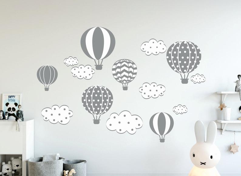Luft Ballons Wandtattoo, Jungen Baby Wand Aufkleber Aufkleber,  Heißluftballons WallDecal Dekor, Luft Ballons Mädchen Zimmer Dekor Tapete