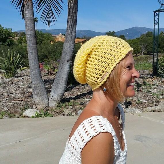 Tuque pour bébé au crochet jaune   Etsy 1681222745d