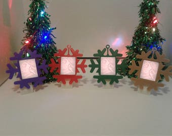 Create your own 3D Printed Snowflake Lithophane Lightbox.