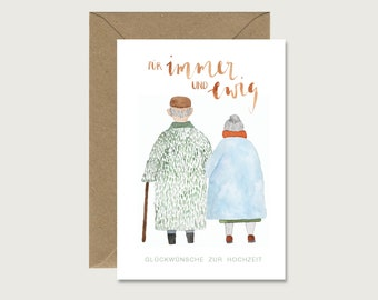 """Wedding Card """"Couple Forever and Eternal"""" - Wedding Folding Card 