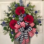 Americana Arrangement, Americana Wreath, 4th of July Arrangement, 4th of July Wreath, Memorial Day Wreath, Independence Day Wreath