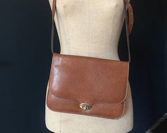 Nice Vintage bag Crossbody Sling Bag leather brown box-calf 80