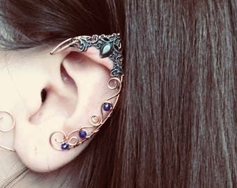 Fae jewellery Silver earrings Dangle earrings Elvish jewellery Green earrings. Elvish earrings Green stone Silver drop earrings