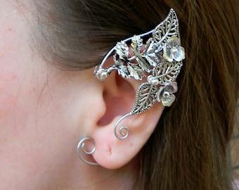silver ear cuff | Ear cuffs | Elven ears | cosplay ears | ear cuff | ear cuff no piercing | ear cuff gold | cuff earrings | earring cuff