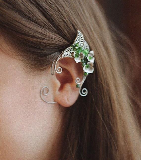 Silver Fairy Ears Silver Elf Ears Elven Ear Wraps Fairy Ear Wraps Fairy Ears Cosplay Elven Ear Cuffs Silver Elven Ear Cuffs Elf Ears