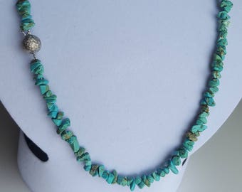 Turquoise and silver layering necklaces