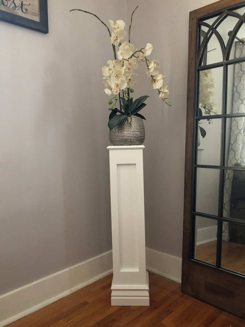 Wood Pedestal Plant Stand Home Decor For Sculpture