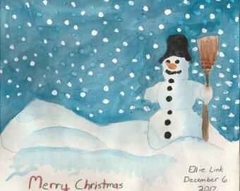 Snowman by Ellie