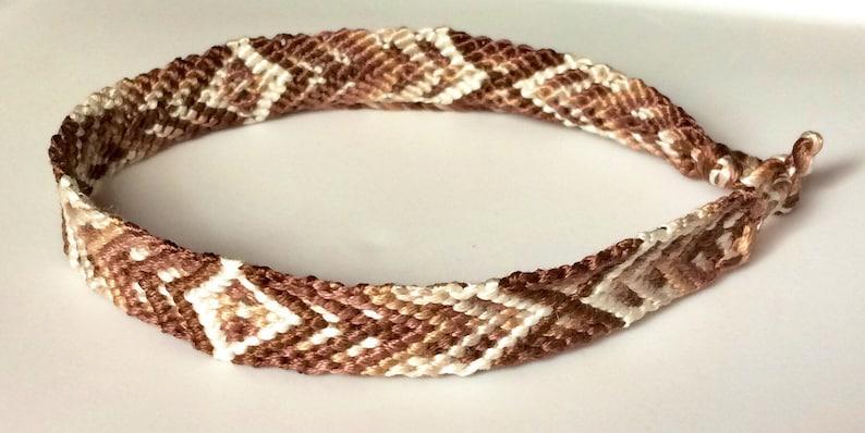 Cappuccino XO Bohemian Handwoven BraceletAnklet