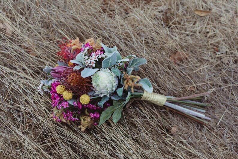 Wedding Bouquet Artificial Flowers Australian Natives Etsy