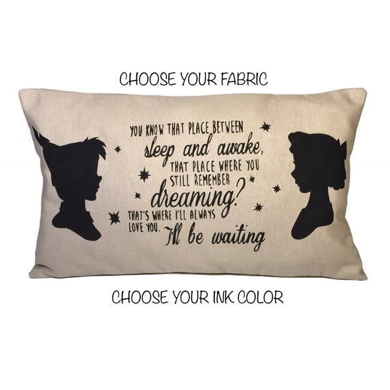Peter Pan And Wendy Pillow Case