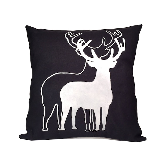 Sensational Decorative Pillows For Couch Deer Pillow Winter Pillow Rustic Home Decor Christmas Decorations Cabin Decor Farmhouse Cushion Inzonedesignstudio Interior Chair Design Inzonedesignstudiocom