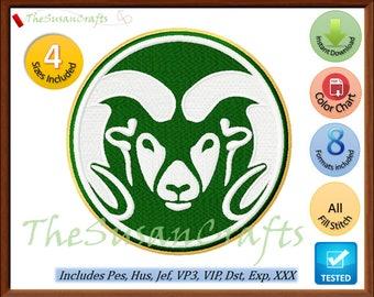 Colorado RAMS EMBROIDERY DESIGNS Pes, Hus, Jef, Dst, Exp, Vp3, Xxx, Vip (Design 2)