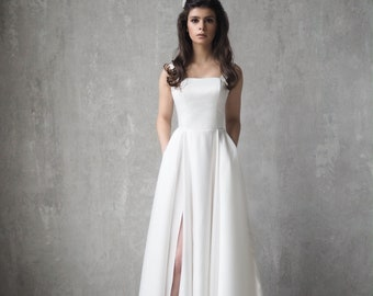 Pocket Wedding Dress Etsy