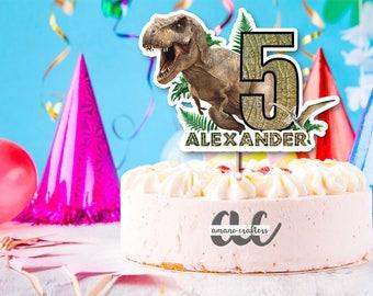 Jurassic Park Cake TopperKids TopperBirthday Party DecorationsPrintable Dinosaur Trex Topper World