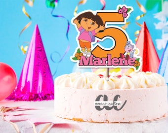 Dora the Explorer   Cake Topper, Kids Cake Topper, Birthday Party Decorations, Printable, Dora Cake Topper,  Centerpiece, Nickelodeon