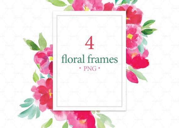Floral Photo Frames Png