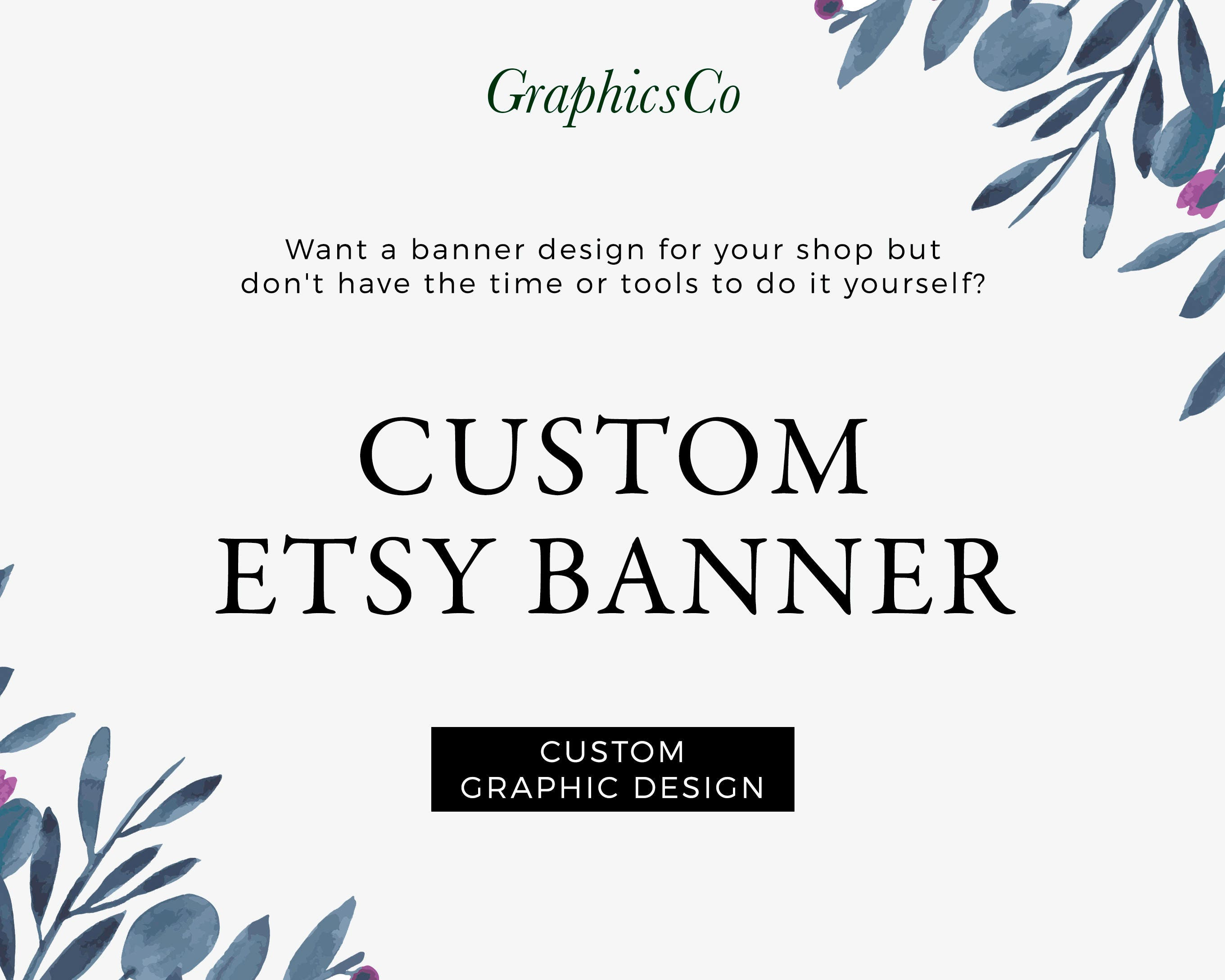 Branding kit banner design etsy cover photo floral banner design this is a digital file solutioingenieria Choice Image
