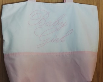 Baby Girl Hand Embroidered Tote Bag