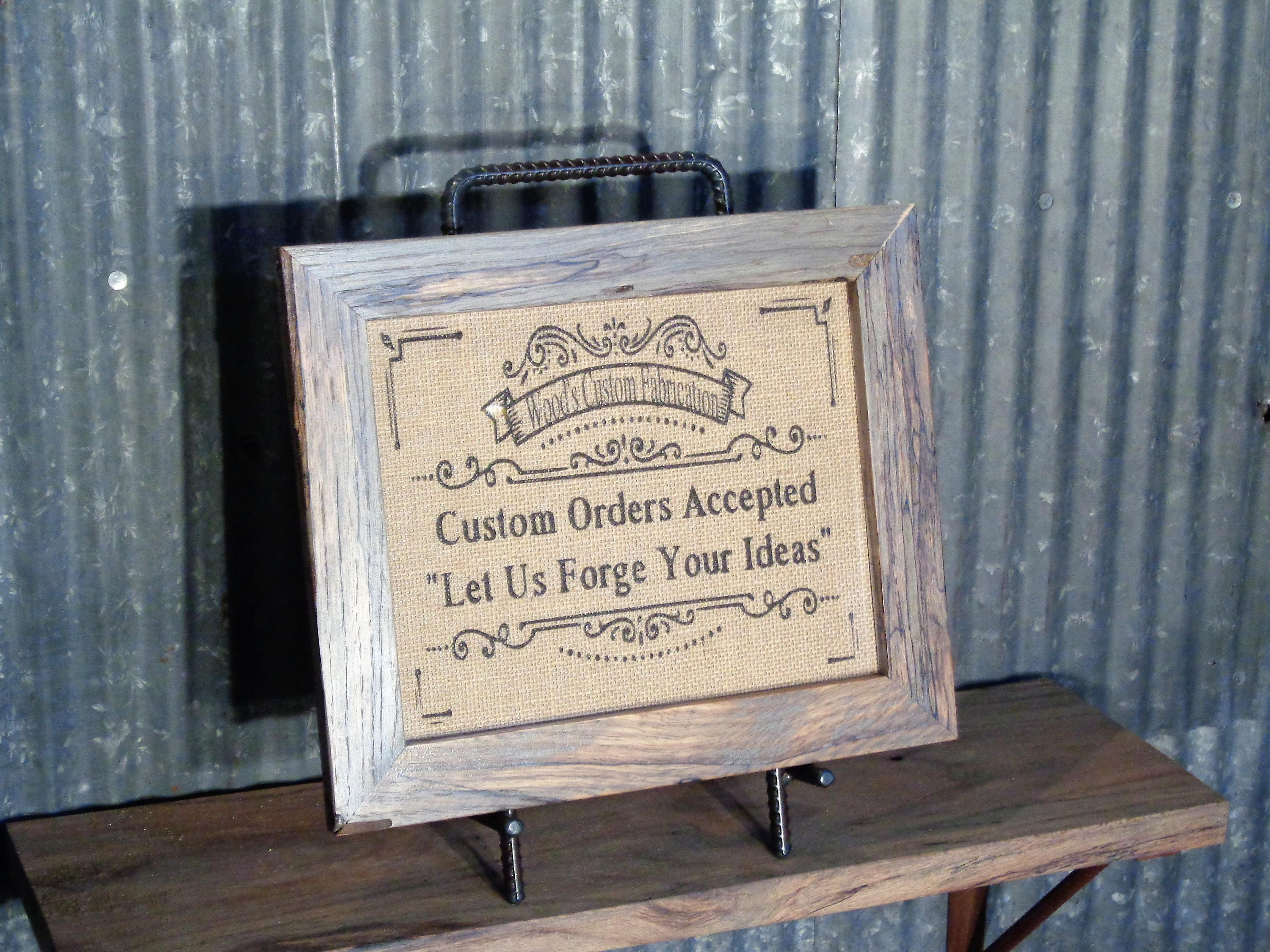 Handcrafted Rustic ReBar Picture Frame Holder, Stand, Rack, Strong ...