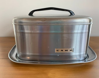 Vintage 60/'s Aluminum Cake and Pie Carrier