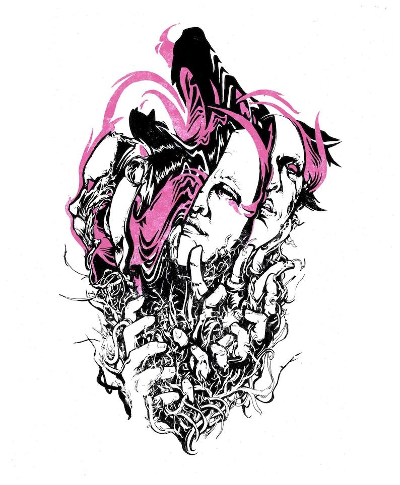 Headphones: Original surreal psychedelic dark art image 0