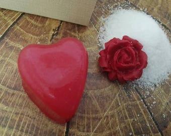 Sugar Scrub Heart Soap Valentine's Day Gift Set