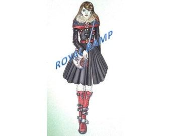 Fashion Illustration Original From the Artist