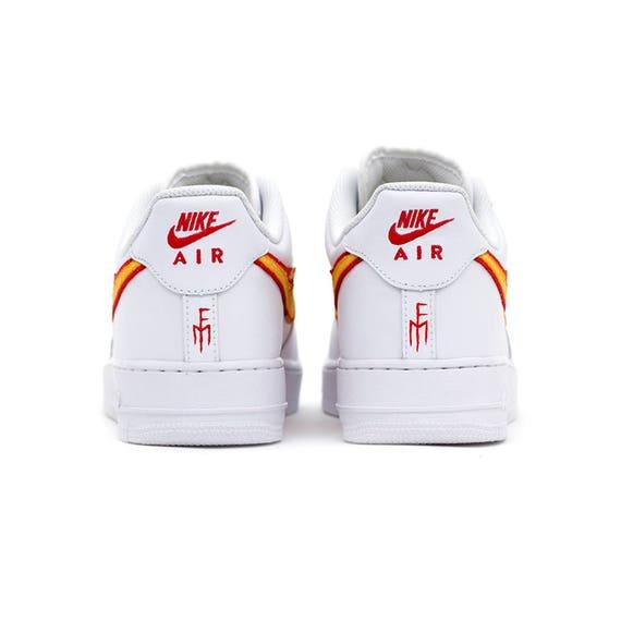 Dragon Breath AIR FORCE 1 White Low Custom Sneakers
