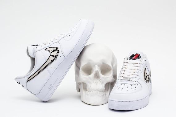 Fatal AIR FORCE 1 Bone #STLLLV Custom Sneakers, hype kicks, artwork, handmade, low, white sneakers, nike custom