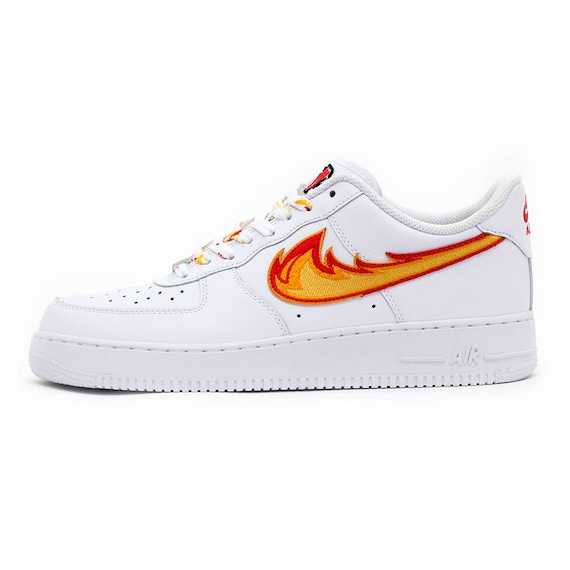 Dragon Breath Air Force 1 White Low Custom Sneakers Etsy