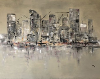 "Image ""City Landscape"", acrylic, art object"