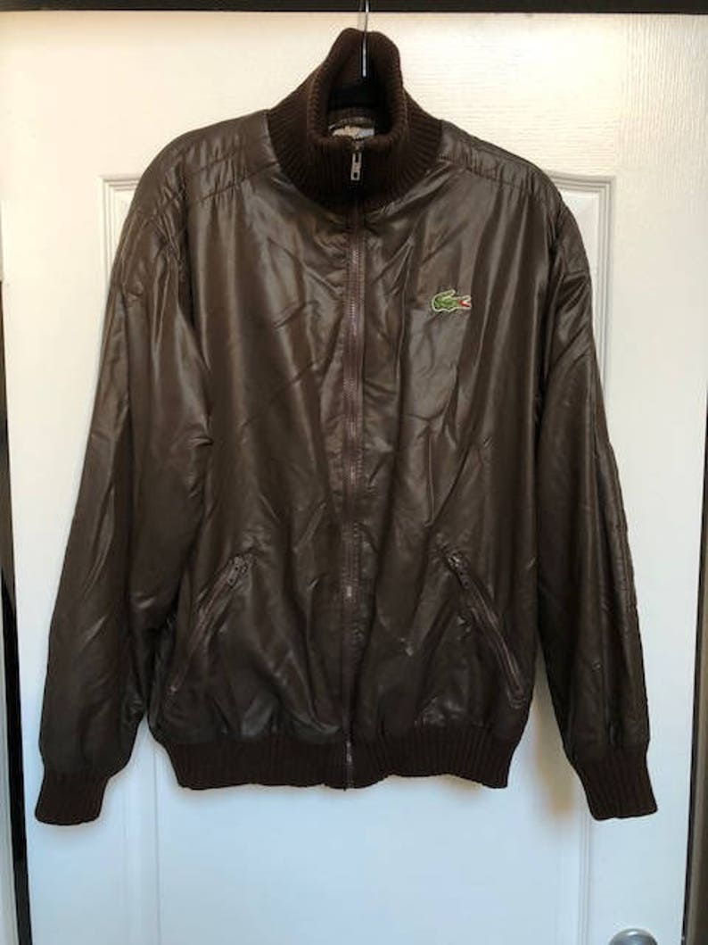 52cb8f0a0 Vintage Brown Lacoste Jacket