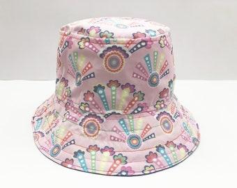 b4636f3ed947f5 Pastel Rainbow and Flowers Girls Sun Hat