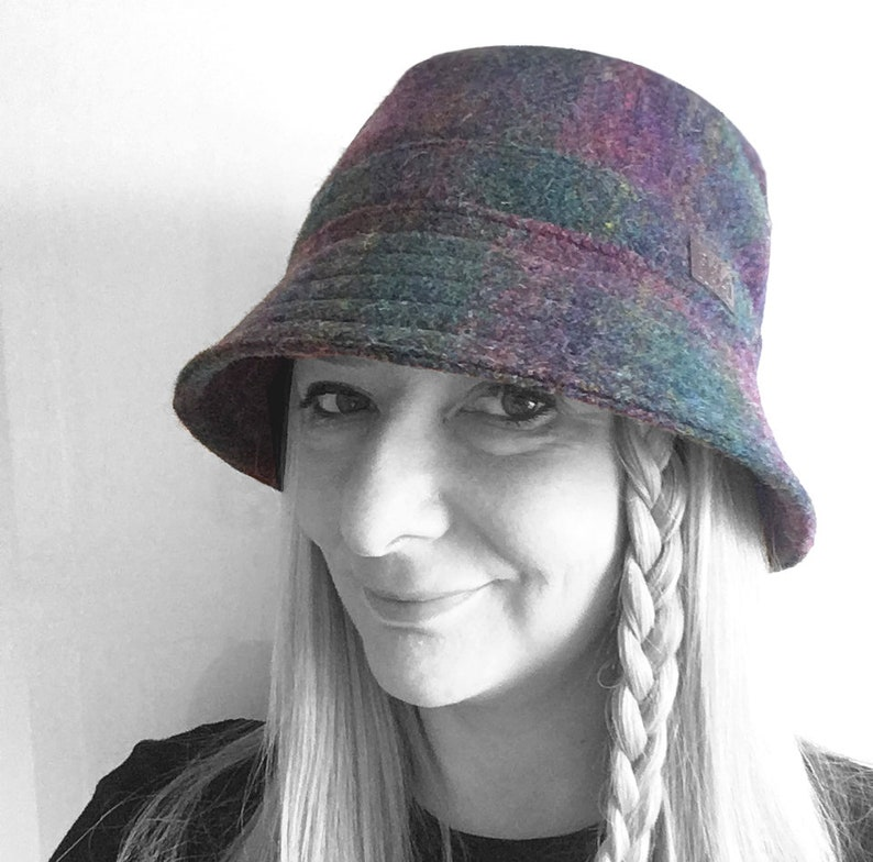 db1ff64bb5db0 Hat in Harris Tweed Unisex Bucket Hat.