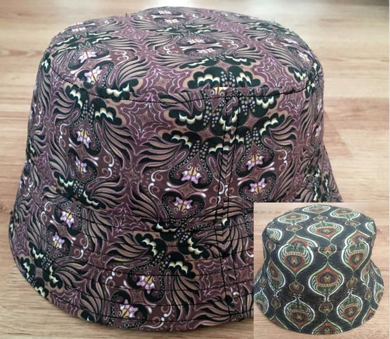 Mens Hat Bucket Hat Printed Sunhat Happy Monday s hat  a60d379c769f