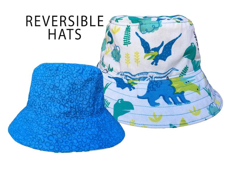0e2af469bc6 Dinosaur Print Hat Blue Fishermans Hat Dinosaur Boys Gift