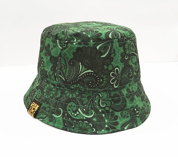 Mens Womens Reversible Paisley Bucket Hat Sun Summer Beach Festival Fishing Cap