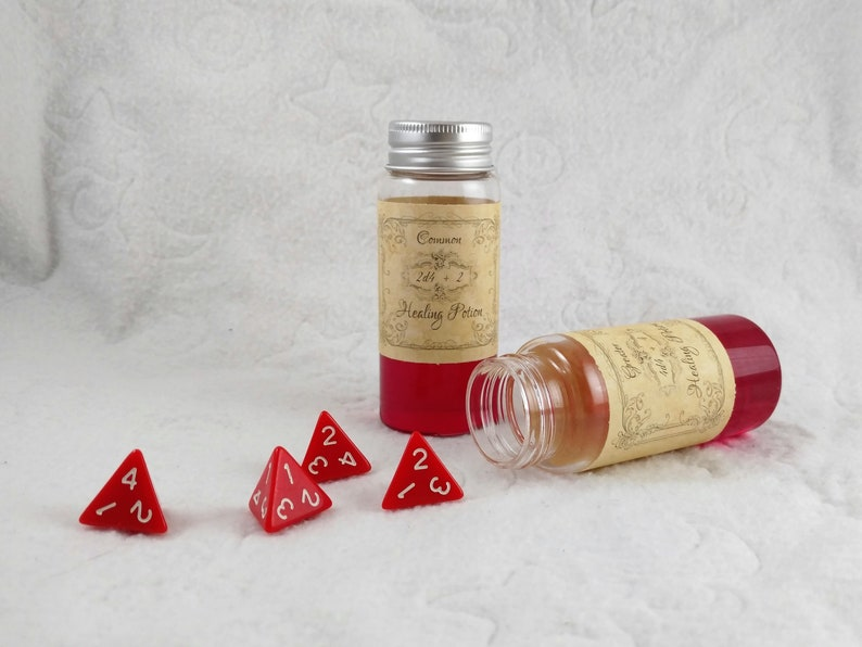 Translucent Red Resin Potions of Healing DnD 5e RPG Game Props