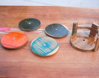 Recycled Skateboard Coasters(4)