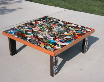 Recycled Skateboard Coffee Table
