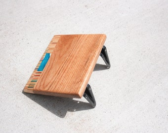 Recycled Skateboard Floating Shelf