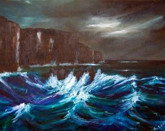 Storm at North Cliffs, Cornwall