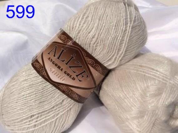 пряжа Alize Angora Gold Simli нитки для вязания зима мохер Etsy