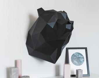 Bear, cardboard sculpture